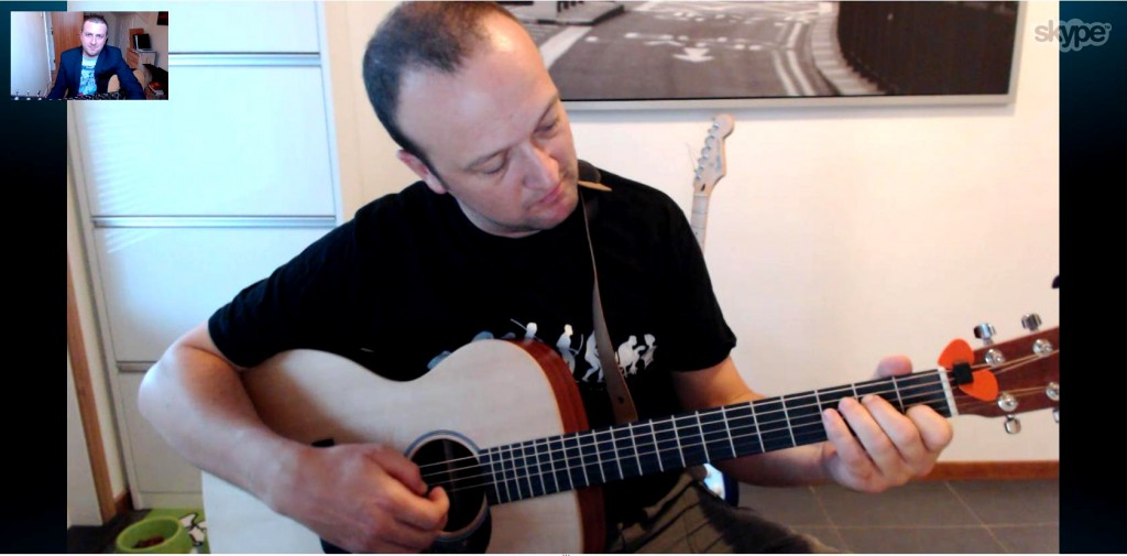 skype guitar lesson - learn guitar from home - Drue James