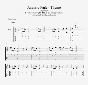 Jurassic Park Theme - TAB
