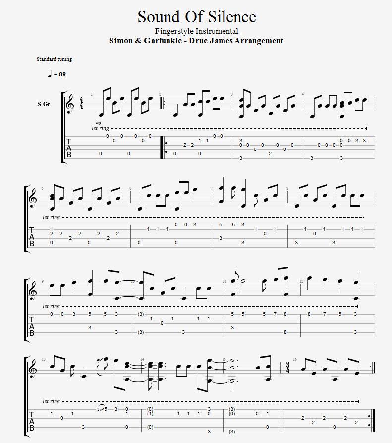 Simon Garfunkel Sound Of Silence Fingerstyle Guitar Lesson