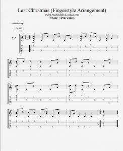 Last Christmas - Fingerstyle Instrumental - TAB ...