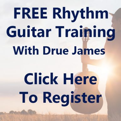 Free Rhythm Guitar Training Webinar With Drue James