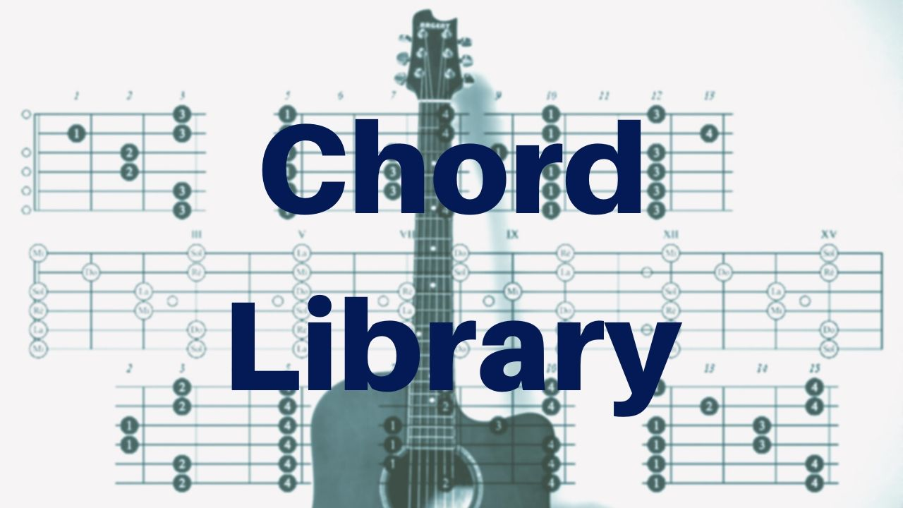 Guitar Chord Library - Drue James - 51 Common Chords With Pictures